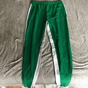 Forever 21 plus size green track pants leggings